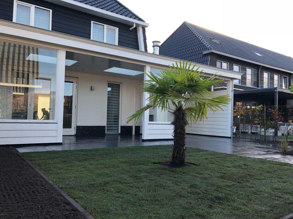 Moderne veranda met haard te Blaricum-011