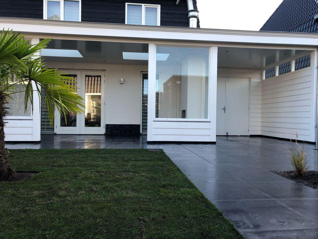 Moderne veranda met haard te Blaricum-013