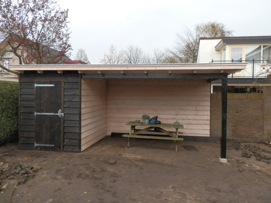 Landelijke veranda met schuur te Barneveld5