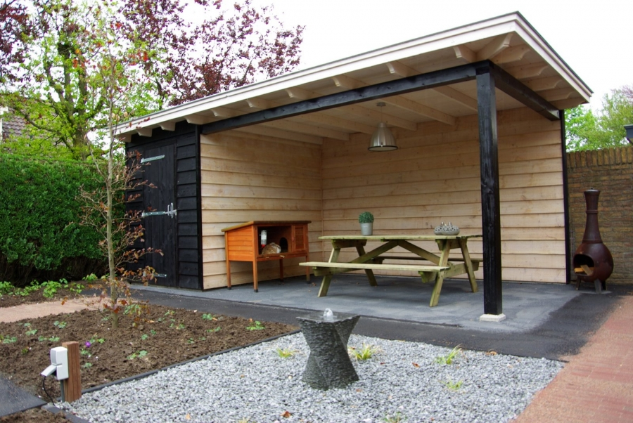 Landelijke veranda met schuur te Barneveld4