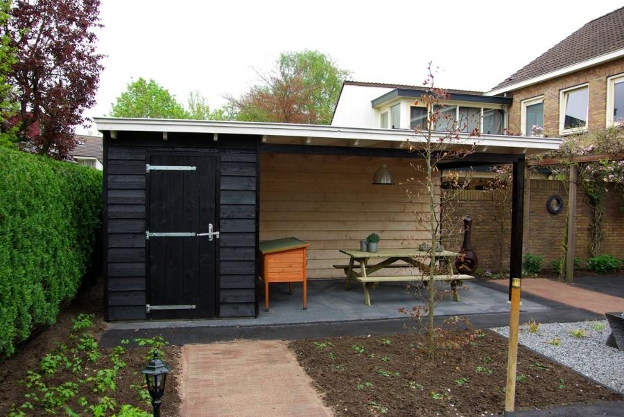 Landelijke veranda met schuur te Barneveld2