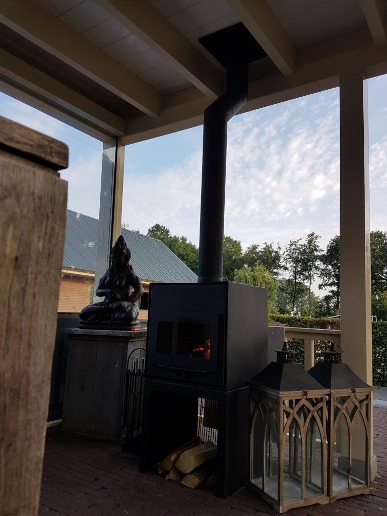 Luxe veranda met lichtstraat te Terschuur-012