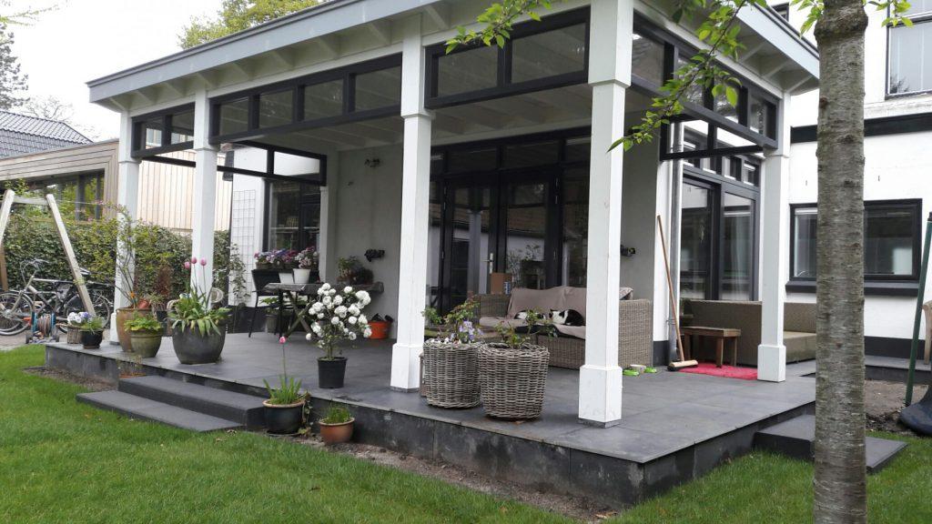 Moderne veranda met bovenramen te Apeldoorn-006