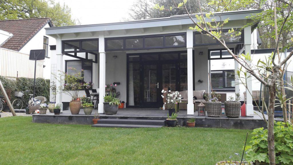 Moderne veranda met bovenramen te Apeldoorn-007