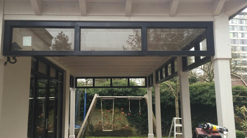 Moderne veranda met bovenramen te Apeldoorn-009