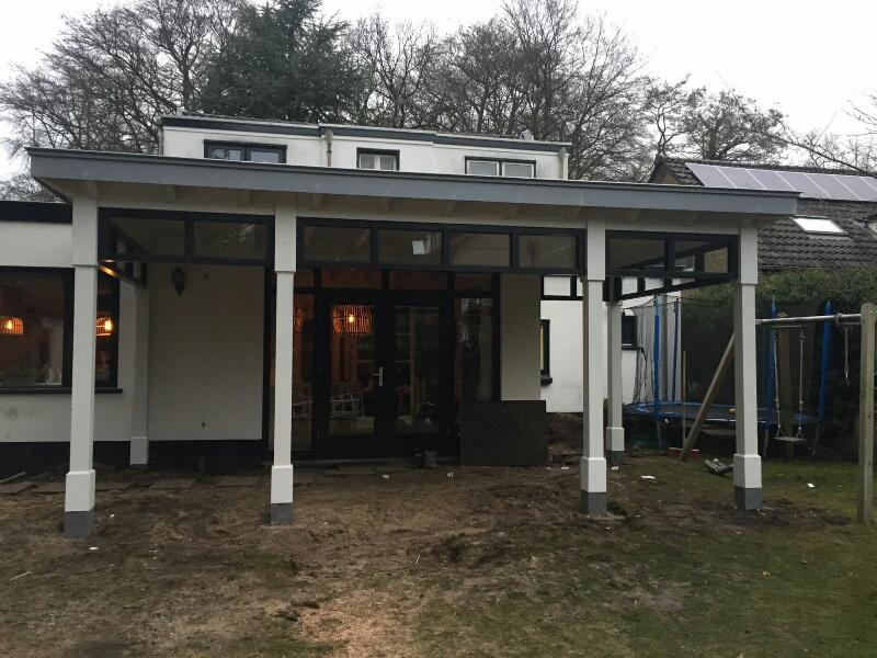 Moderne veranda met bovenramen te Apeldoorn-011