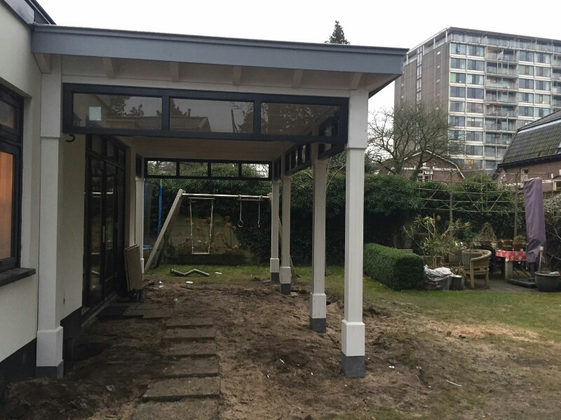 Moderne veranda met bovenramen te Apeldoorn-013