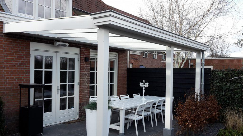 Moderne veranda met glazen dak te Den Haag-001