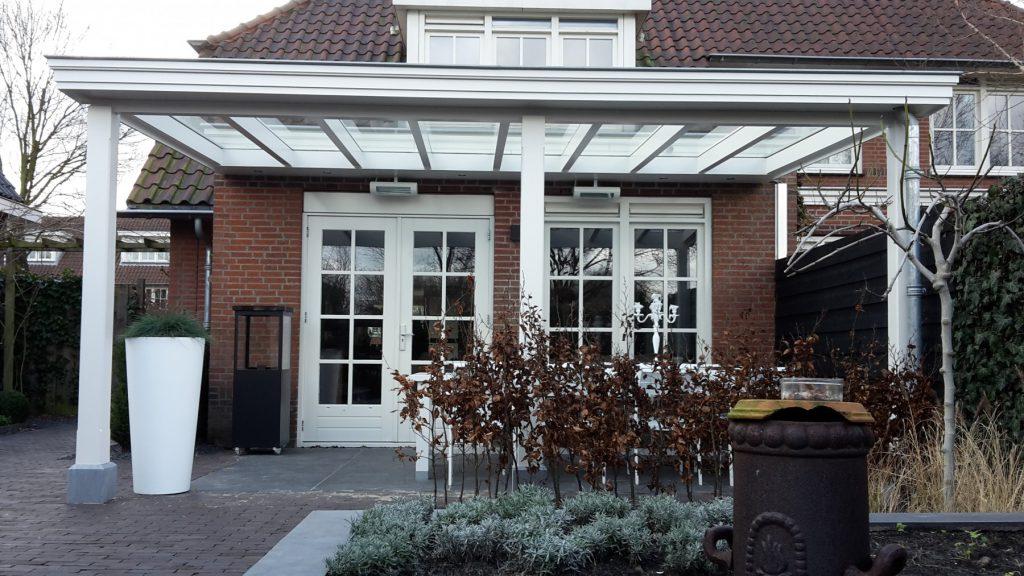 Moderne veranda met glazen dak te Den Haag-004