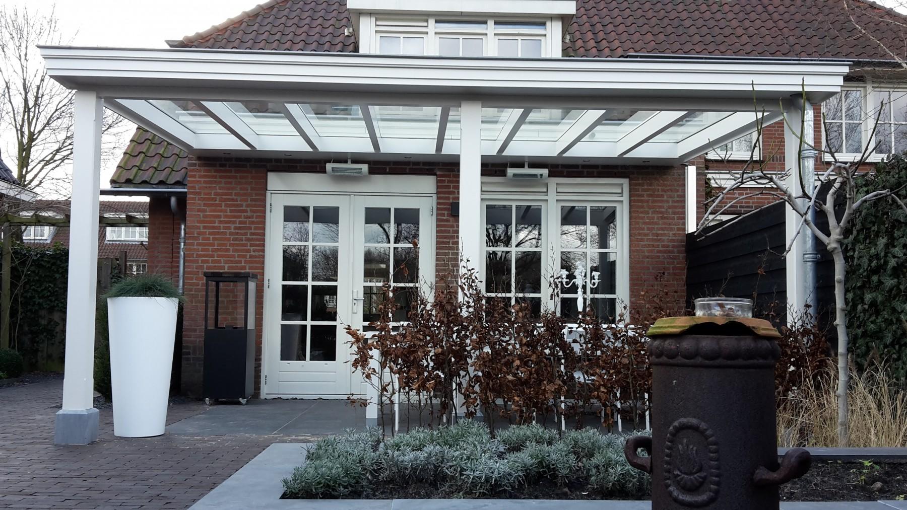 Moderne veranda met glazen dak te Den Haag-005
