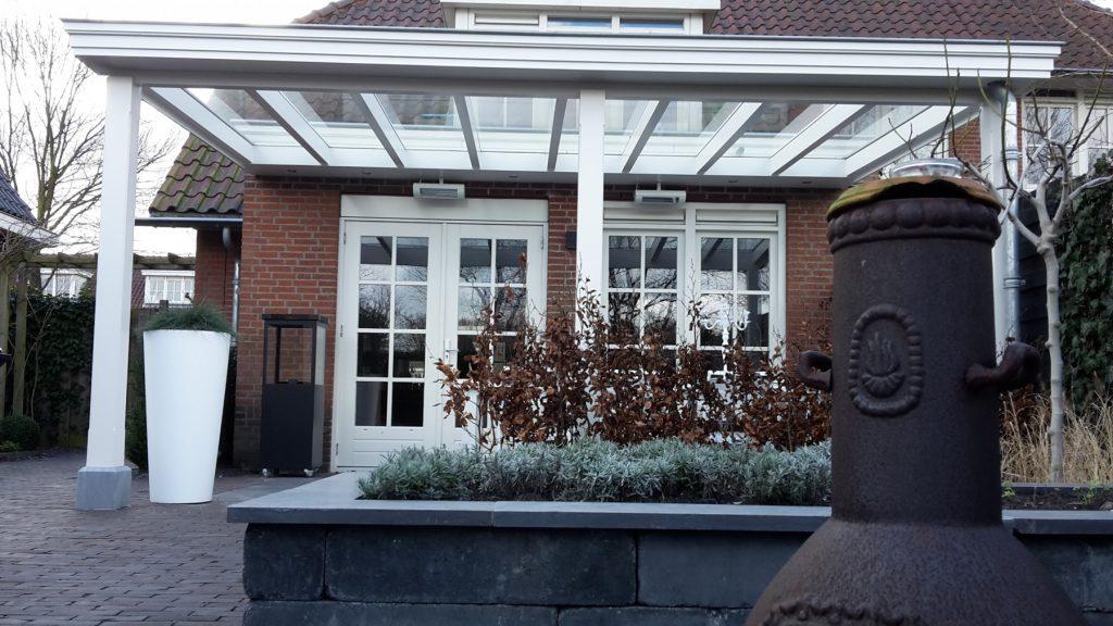 Moderne veranda met glazen dak te Den Haag-006