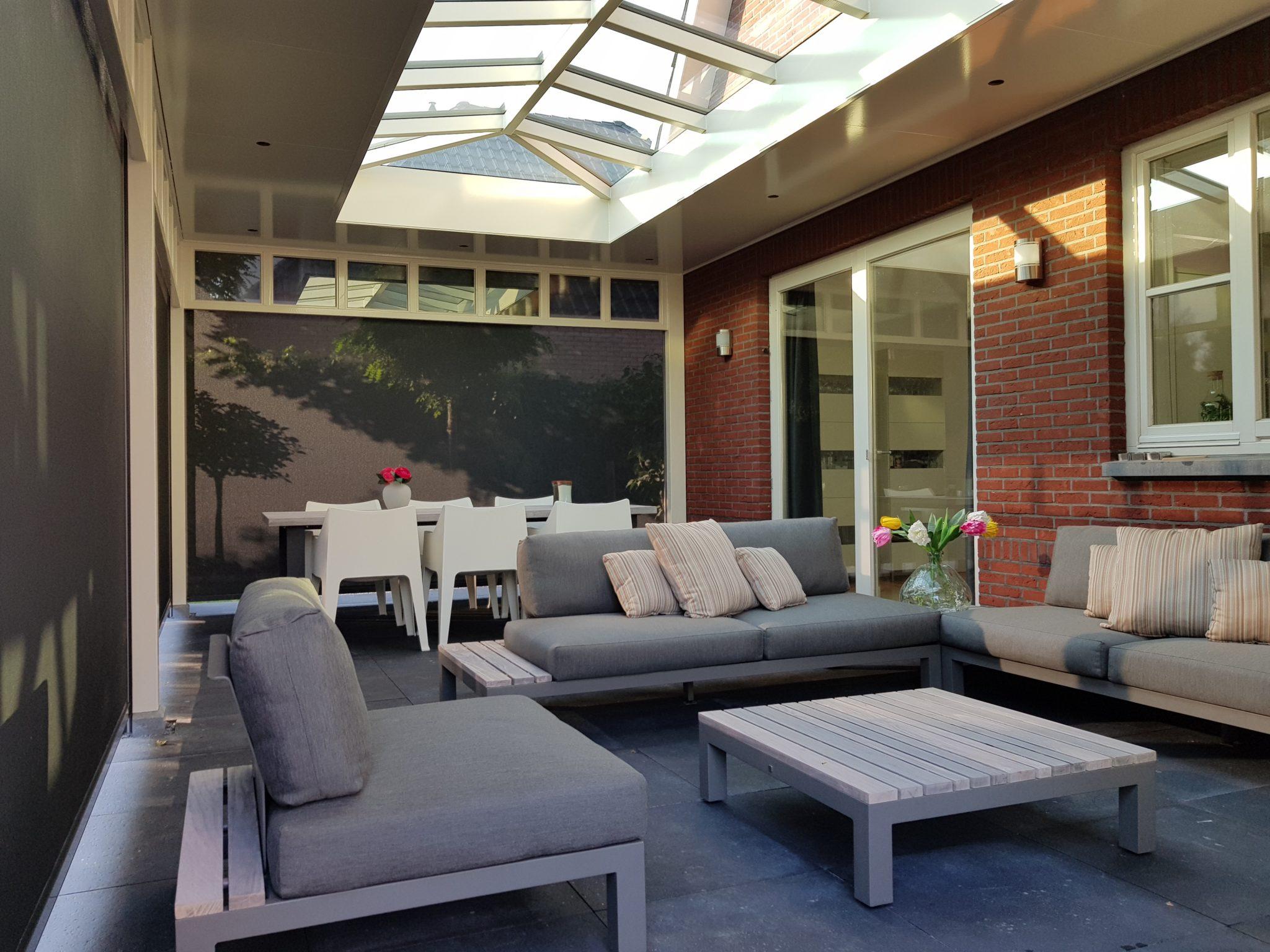 Moderne veranda inrichting